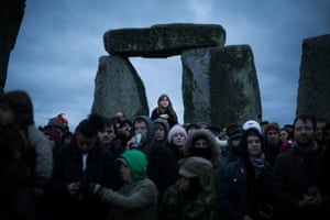 People gather at Stonehenge to mark the shortest day of the year, the winter solstice.