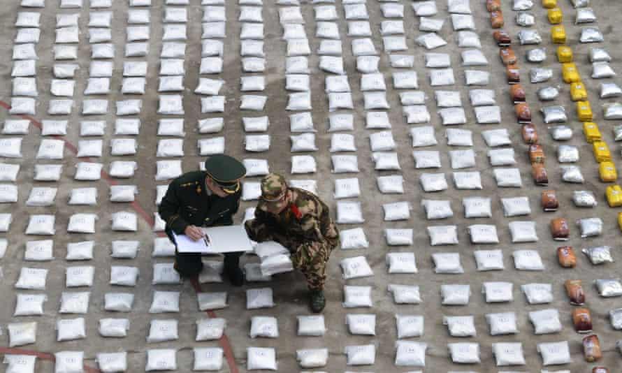 Ketamine seized in China by border police