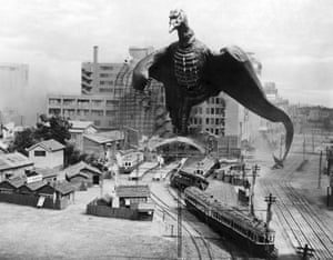 Rodan goes into action, in 1956.