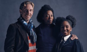 Right balance of comic and tragic … Paul Thornley, Noma Dumezweni and Cherrelle Skeete in Harry Potter and the Cursed Child.