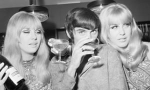 'Where did it all go wrong?' … Best celebrates the opening of his fashion boutique in 1967.