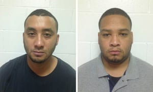 Norris Greenhouse, left, and Derrick Stafford are shown in these booking photos provided by Louisiana state police.