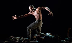 A scene from Exodus by Alvin Ailey American Dance Theater.