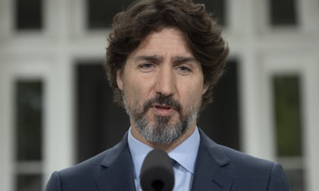 Trudeau speechless at Trump's reaction to Floyd protests – video