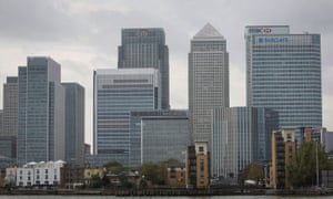 Banks at Canary Wharf in east London