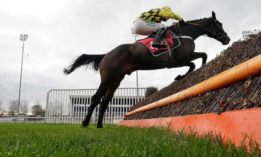 Nico de Boinville rides Shishkin to victory at Kempton Park on Monday.