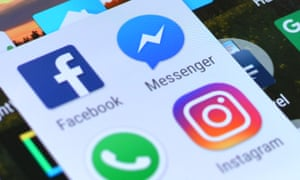 Facebook, Messenger and Instagram apps on an Android device