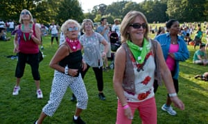 Old people dancing at Big Dance Carnival in Crystal Palace Park