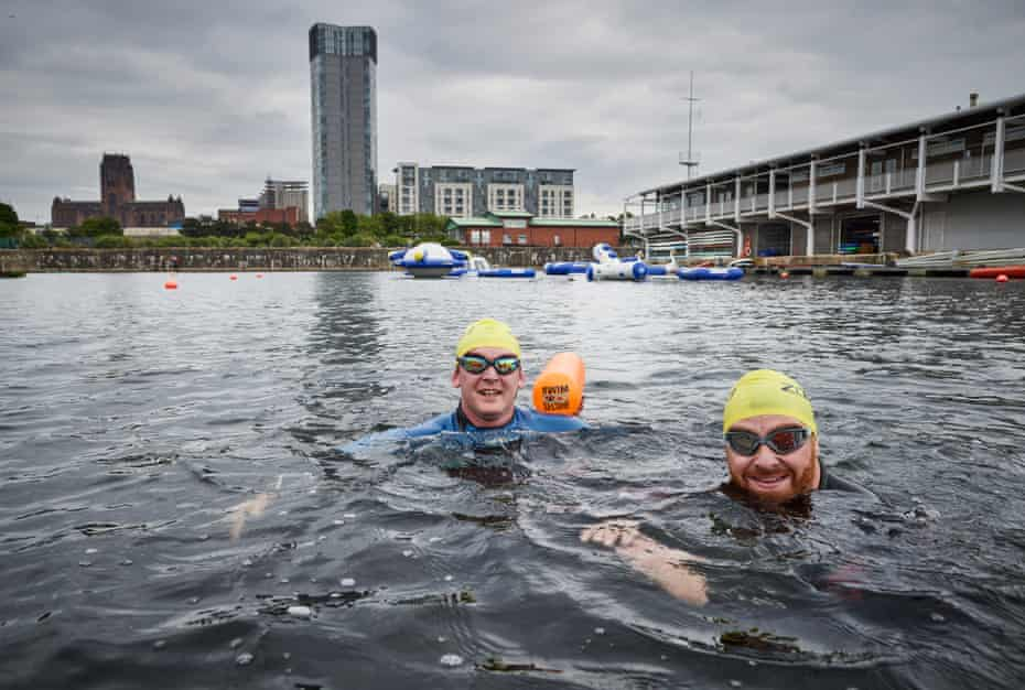 Residents and support workers from Tom Harrison House, Addiction Recovery Programme for military veterans, have come to swim at the Liverpool Watersports Centre which is run by Local Solutions social enterprise. These men are training for triathalon in Wales this autumn where they will compete to raise money and awareness for Tom Harrison House. Liverpool