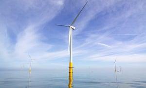 Wind turbines off the coast of Kent