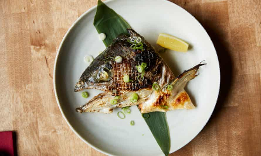 'With staring eye and jaw': roasted salmon head.