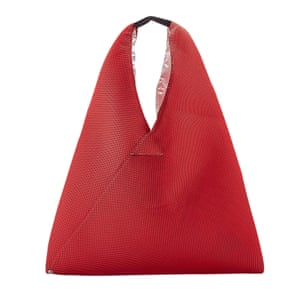 Red tote bag by MM6 from urban outfitters