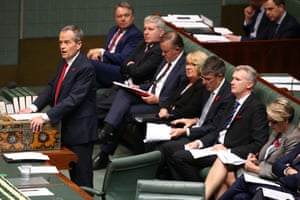 The leader of the opposition Bill Shorten makes a statement on the outcome of the US election.