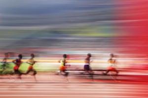 Doha, QatarGeneral view of the Men's 5000 metres final during day four of 17th IAAF World Athletics Championships Doha 2019 at Khalifa International Stadium