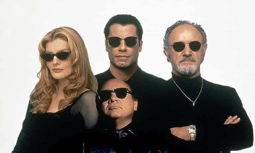 'You only get one night' … Rene Russo, John Travolta, Danny DeVito and Gene Hackman in the 1995 Elmore Leonard adaptation.