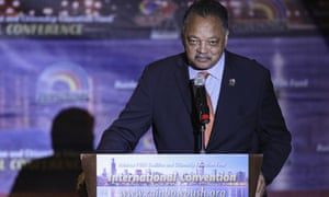 Reverend Jesse Jackson Sr addresses the Rainbow PUSH Coalition Annual International Convention in Chicago.