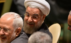 Iran's President Hassan Rouhani has made clear he has different views to the Obama administration on fighting Isis.