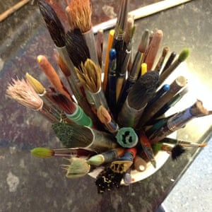 Paint brushes, by Tommy, nine