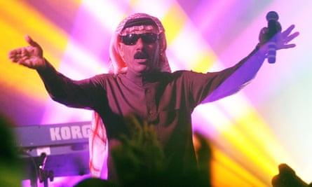 Omar Souleyman performing in Athens, Georgia.