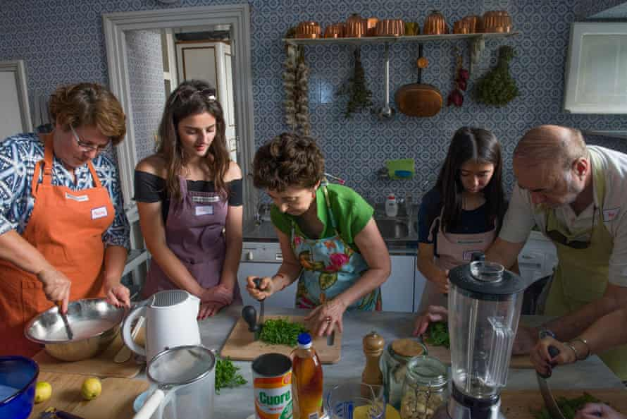 A cooking class in Palermo, Sicily