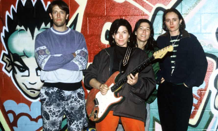 The Breeders backstage in in 1994
