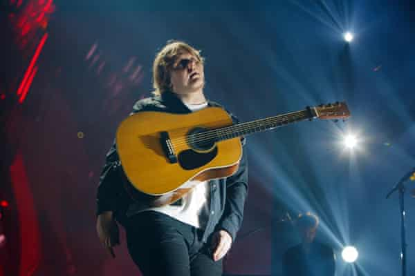 Lewis Capaldi performing in London last week.