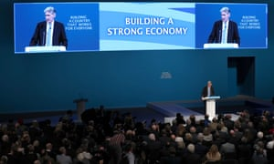 Philip Hammond delivering his conference speech.