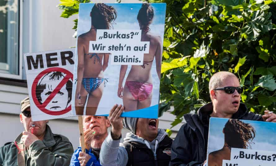 Members of the far-right Alternative für Deutschland (AfD) at a rally in Binz, Germany.