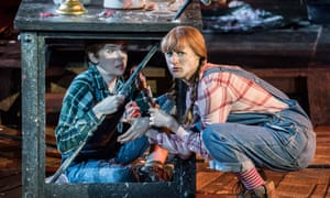 Rachel Kelly and Susanna Hurrell, left, as Hansel and Gretel at Regent's Park Open Air theatre.