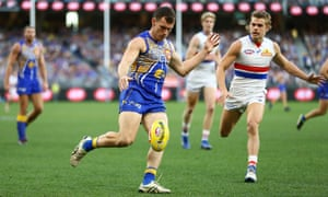 Luke Shuey of the Eagles during the Round 11 AFL match between the West Coast Eagles and the Western Bulldogs at Optus Stadium in Perth.
