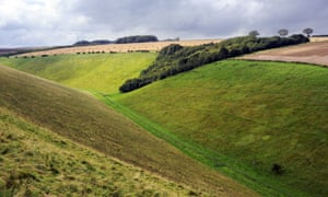 Horse Dale on the Yorkshire Wolds Way.