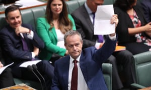 Opposition leader Bill Shorten during question time in the House of Representatives on Tuesday.