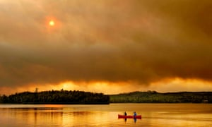 Wildfire confronts canoeists in The River.