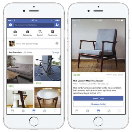 Facebook Takes On Craigslist And Ebay With New Classified Ad Service Facebook The Guardian