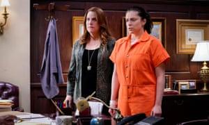 Donna Lynne Champlin and Rachel Bloom in season four.