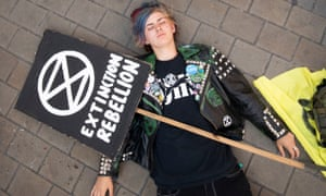 An Extinction Rebellion protest in Leeds.