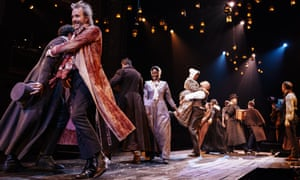 No room for sentimentality … Rhys Ifans and the cast of A Christmas Carol at the Old Vic, London.