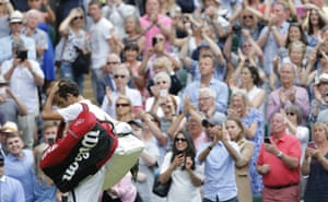 Roger Federer, the Centre Court favourite, also receives a big round of applause as he departs.