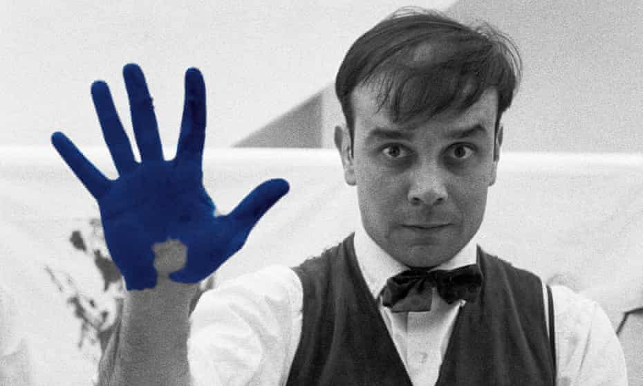 'The great shaman' … Yves Klein, who painted with firemen standing by.