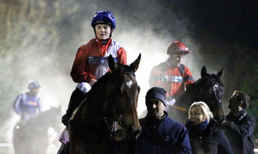 Hollie Doyle after winning on Vibrance at Kempton on 29 November.