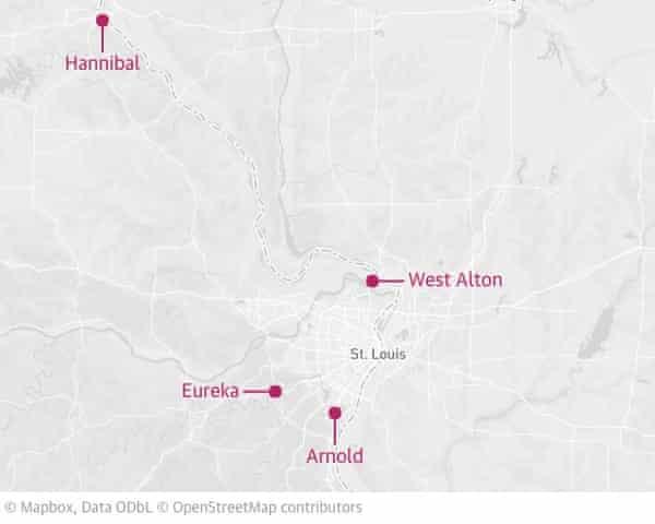 Missouri floods map