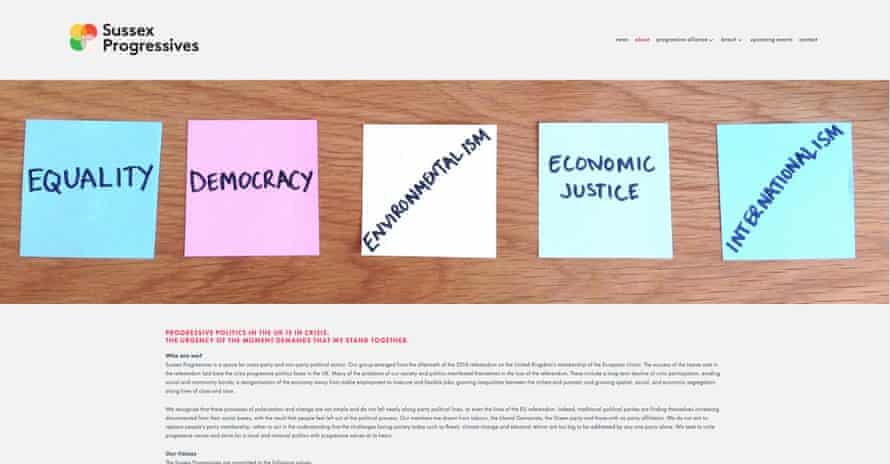 Sussex Progressives website