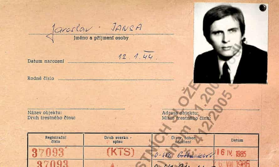 The StB security file of Jaroslav Jansa who spied on Donald Trump in 1980's while he was married to Ivana.