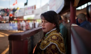 Karla Santoyo, a headliner at Santa Maria. Bullfighting is 'a little bit complicated for a woman because it's a world of men.'