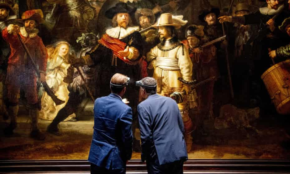 Taco Dibbits (left), general director of the Rijksmuseum, and Thierry Vanlancker, CEO of AkzoNobel are collaborating on the restoration of Rembrandt's The Night Watch.