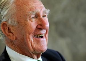 The former PM laughs during the launch of his first political memoirs in 2010. Fraser was the first Australian politician to describe Australia's future as multicultural, and his federal government was the first to pass Aboriginal Land Rights and Freedom of Information legislation.