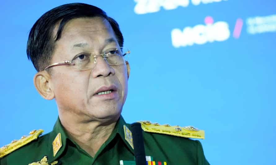 General Min Aung Hlaing at an event in Moscow in June.