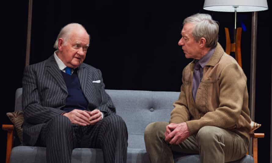 Oliver Ford Davies, left, as Graham Greene and Stephen Boxer as Kim Philby in A Splinter of Ice.