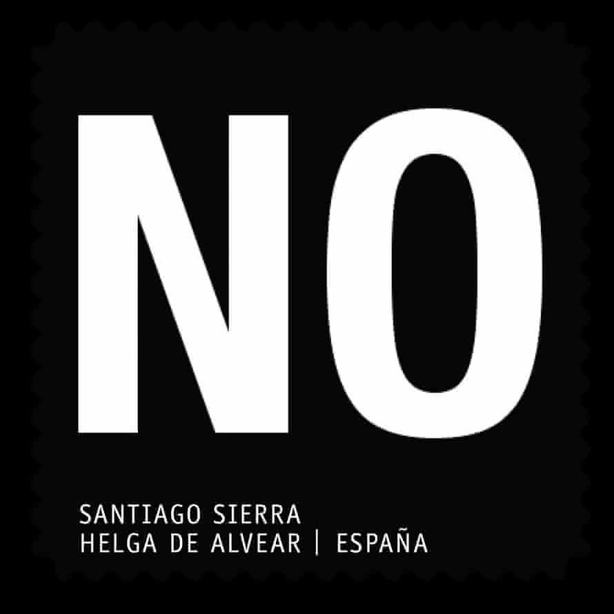 Santiago Sierra stamp design