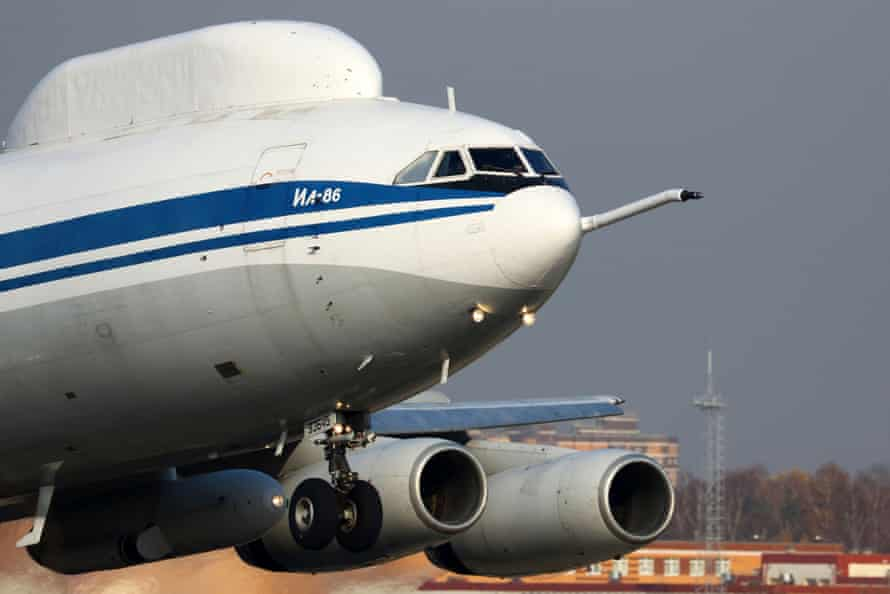 An Il-86 airborne command post taking off.